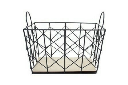 Black Metal Basket
