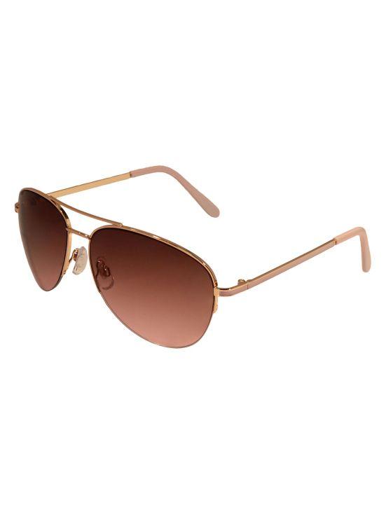 Alfred Sung Pink Aviator Sunglasses