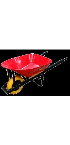 Wheelbarrow 6cuft Flatt Free Wheel