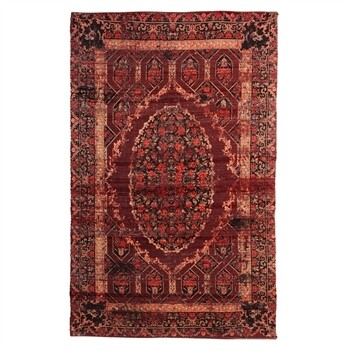 Brown & Red Reversible Indoor/outdoor Rug