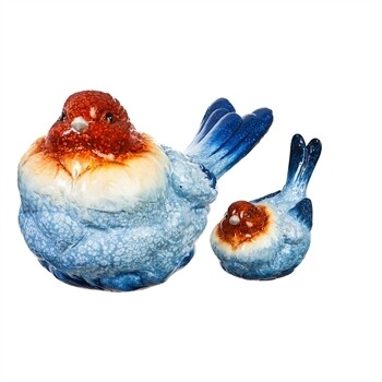 BLU/RED Garden Bird Set