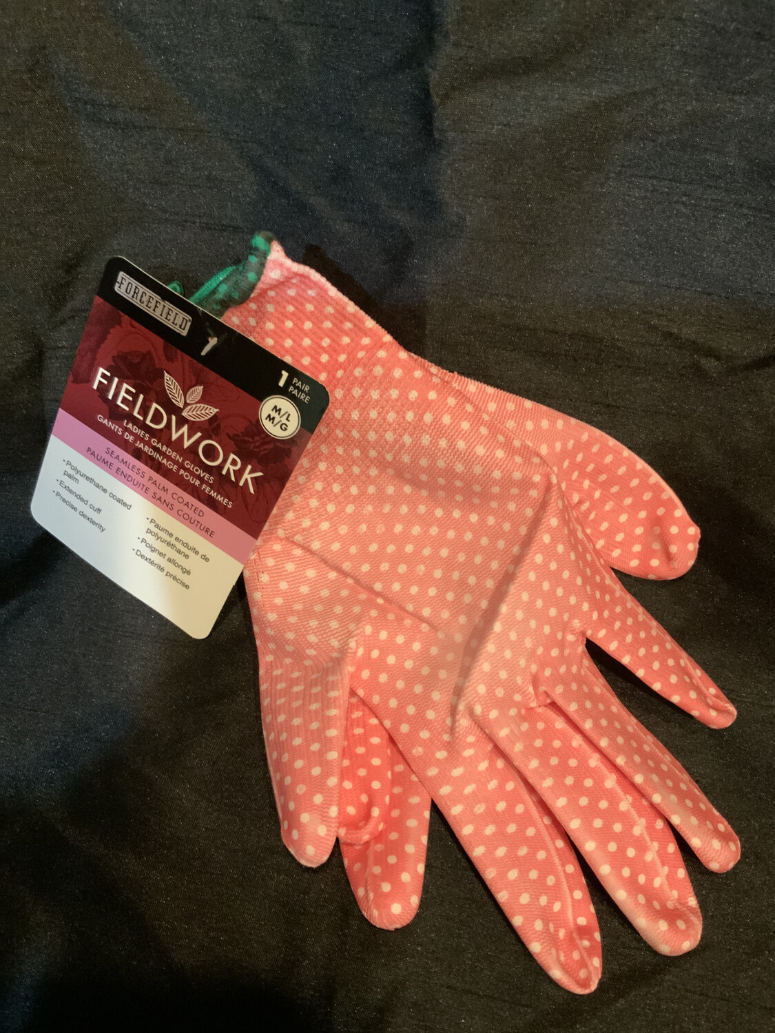 Forcefield - Pink Dot Poly Coated