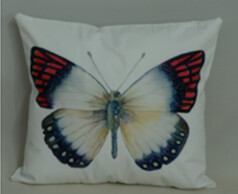 White Butterfly Pillow