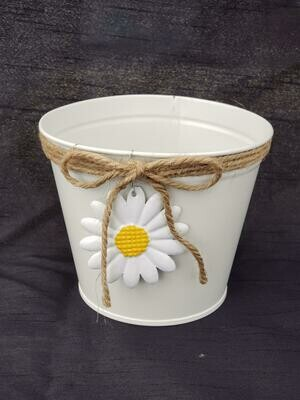 SM White Daisy Pot