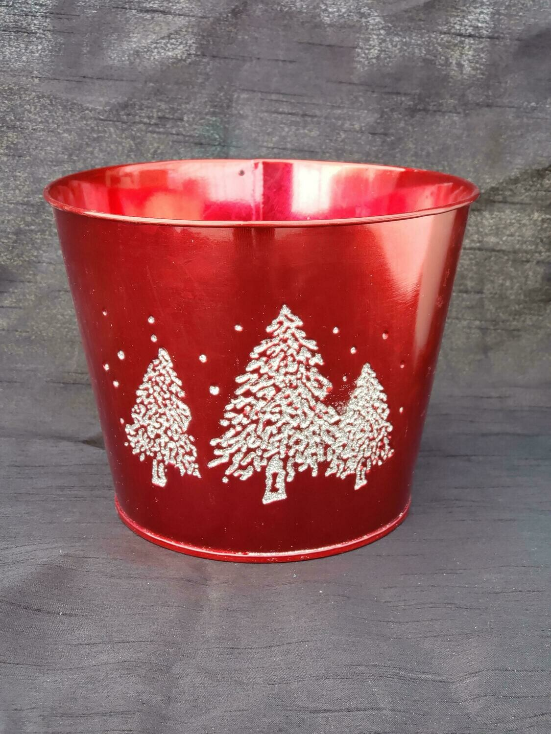 LG Red Metal Tree Pot