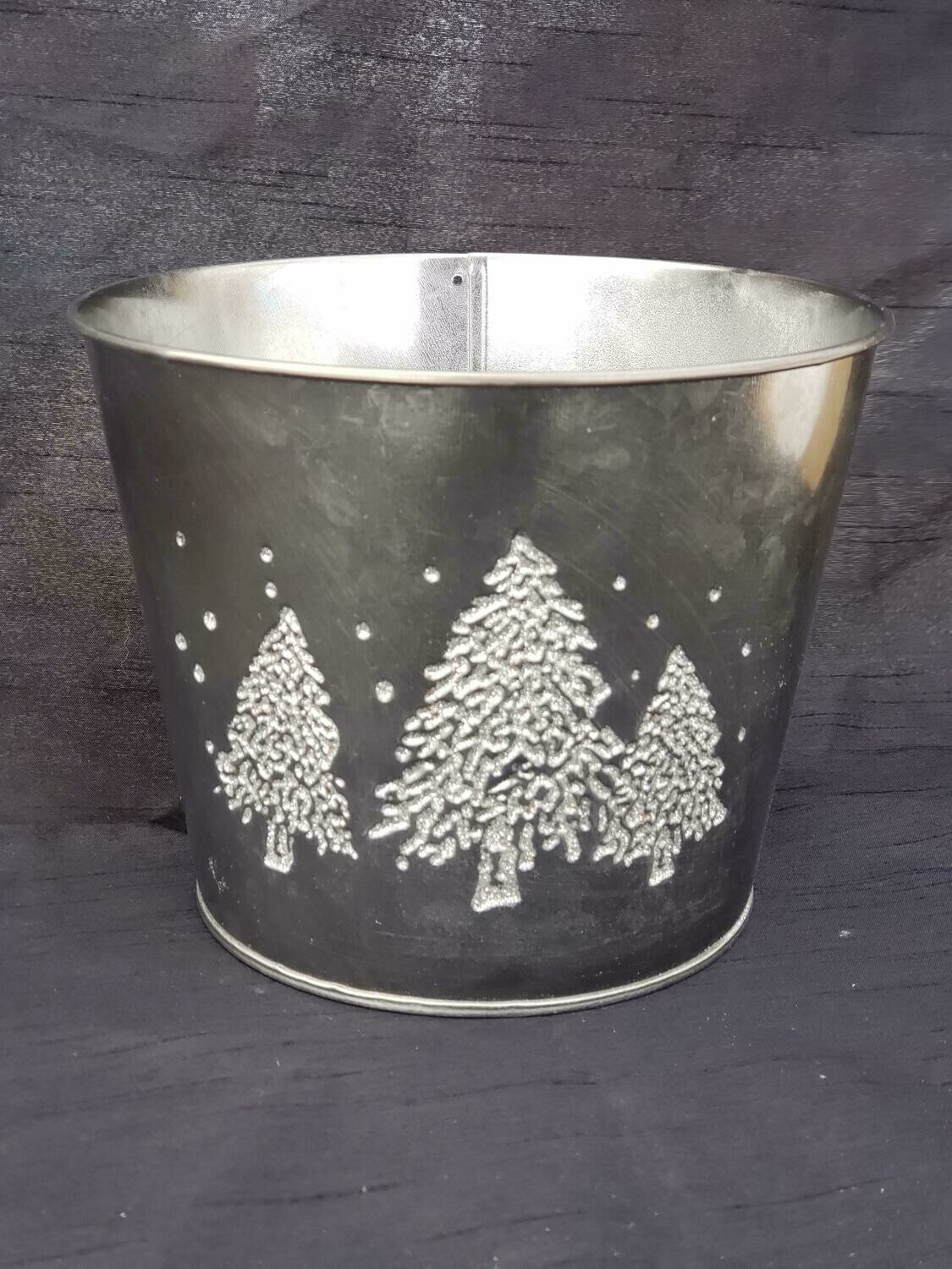 LG BLK Metal Tree Pot