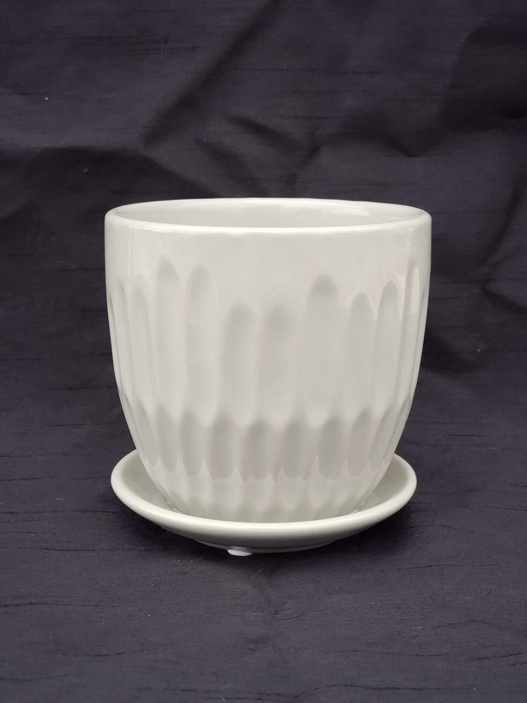 12cm D GRY Ceramic Pot