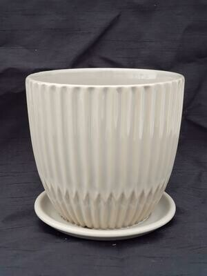15cm TPE Ceramic Pot W/saucer