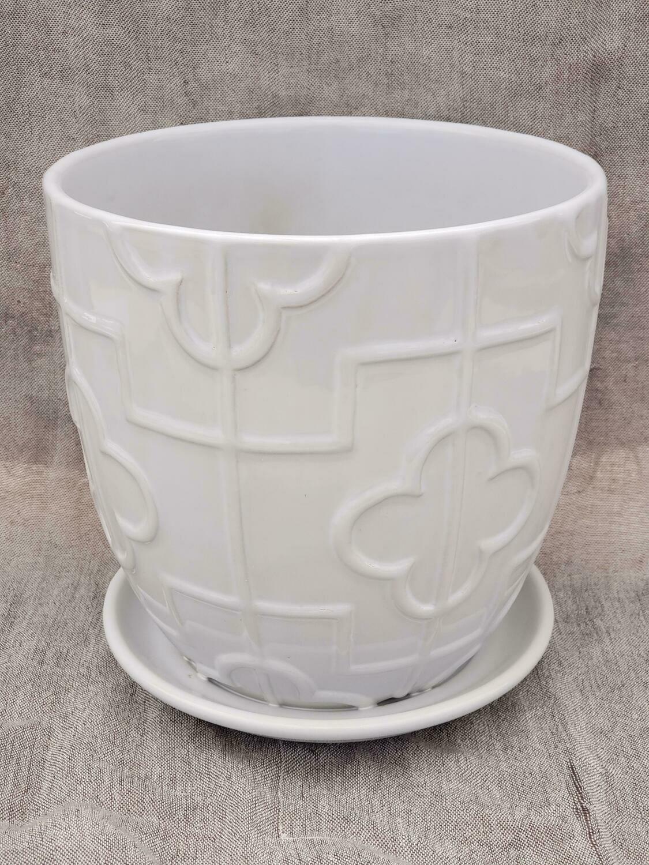 18cm WHT Ceramic Pot