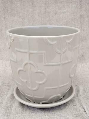 18cm GRY Ceramic Pot