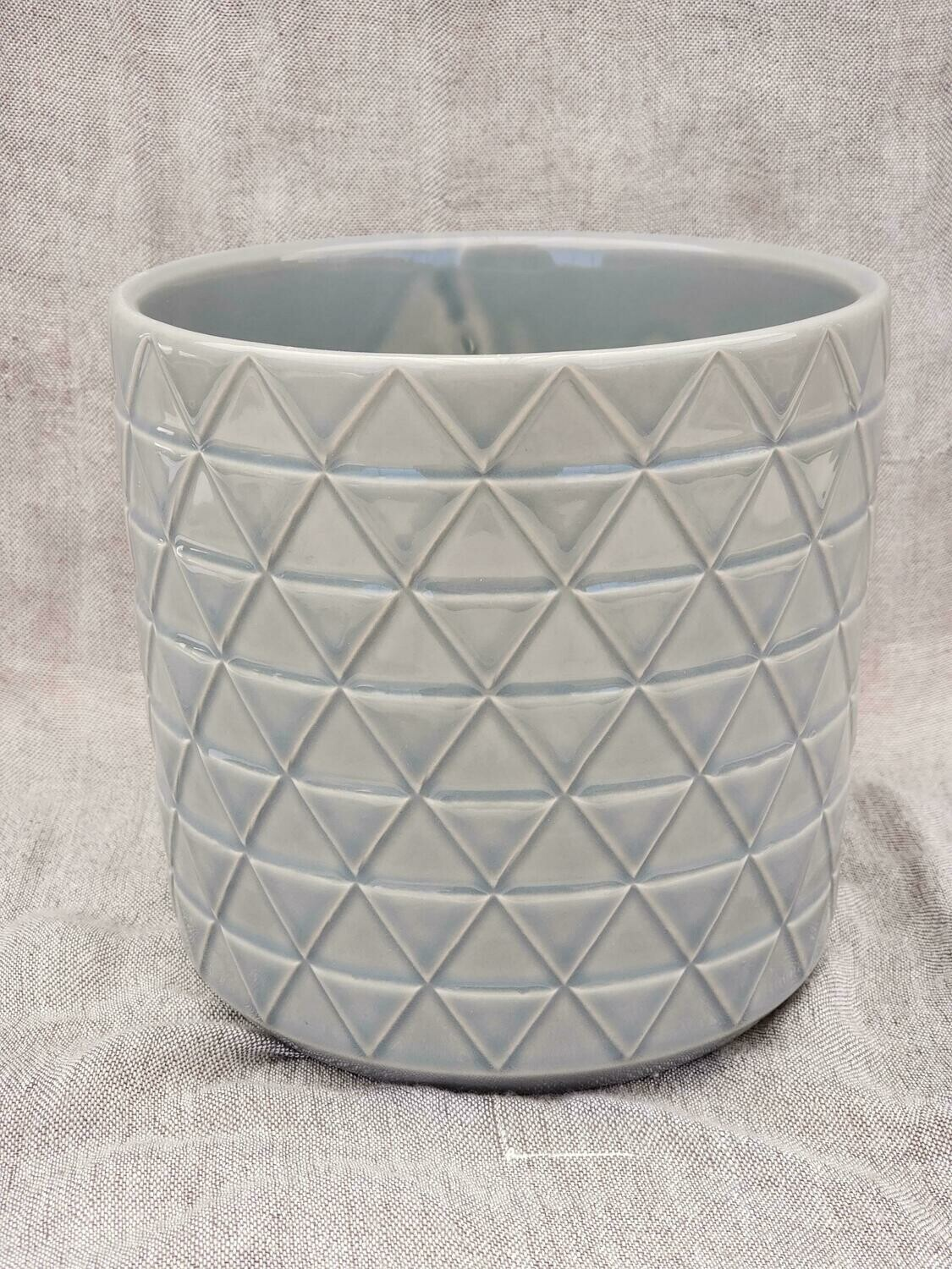 15cm GRY Pattern Ceramic Pot