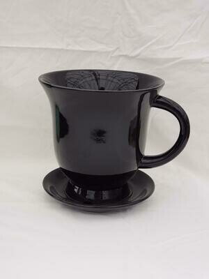 18cm BLK Ceramic Tea Pot
