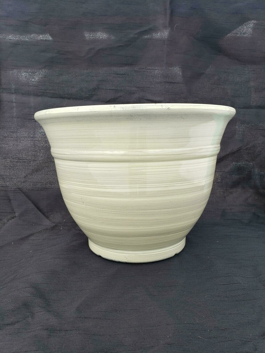 "CRM 12"" Glazed Planter"