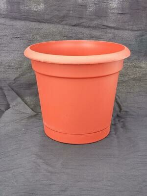 "RED 12"" Planter W/Saucer"