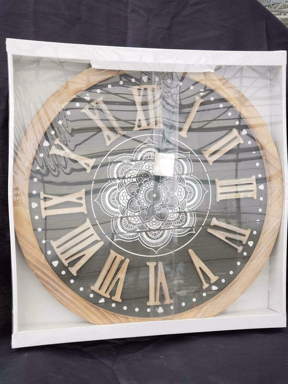 Black Roman Clock