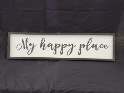 My Happy Place Wall Art