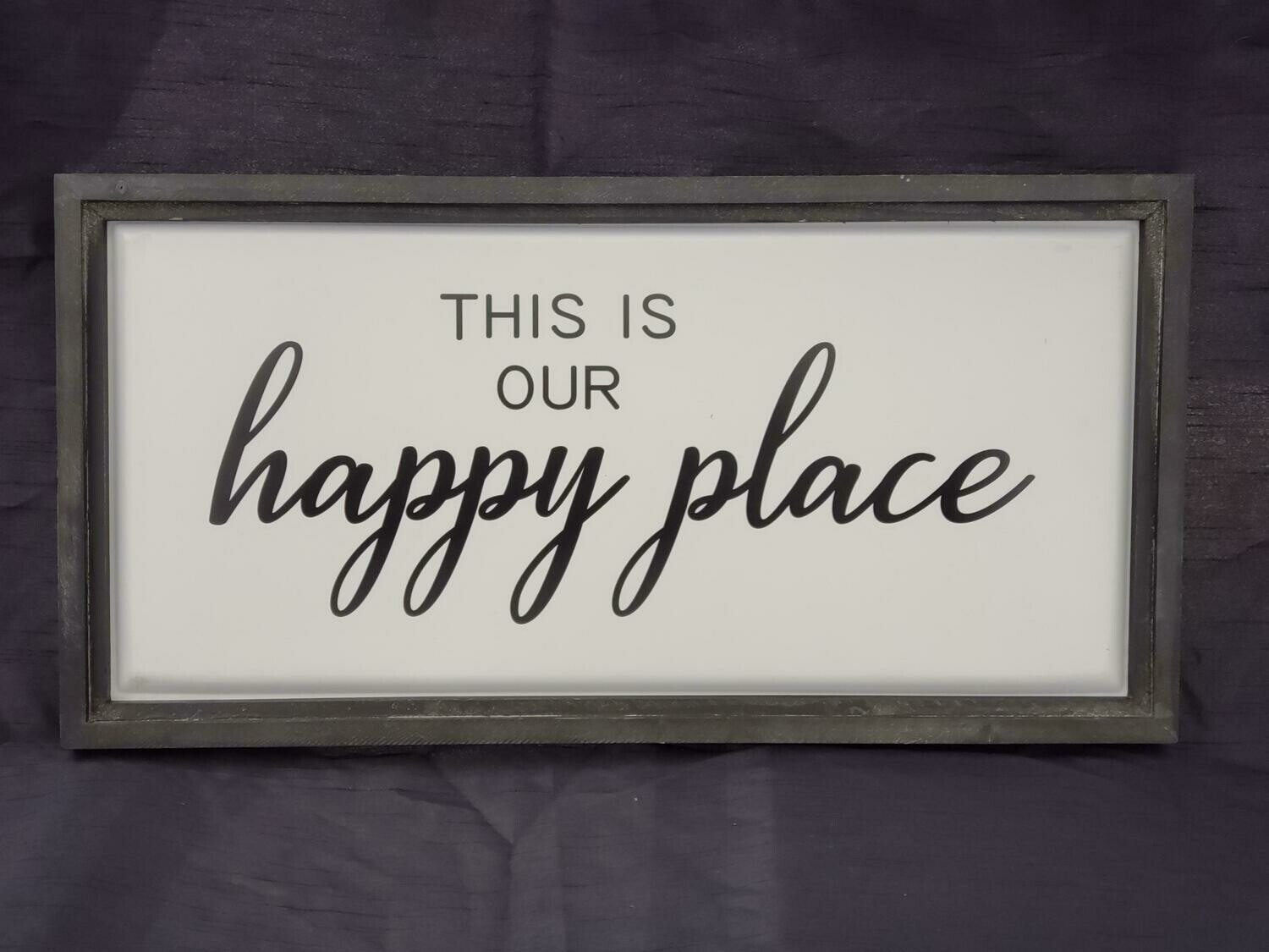 Our Happy Place Wall Art