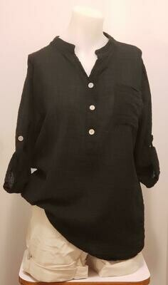BLK 3/4 Sleeve Linen Shirt