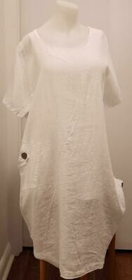 WHT Linen Pocket Dress