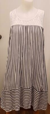 WHT Stripe Dress
