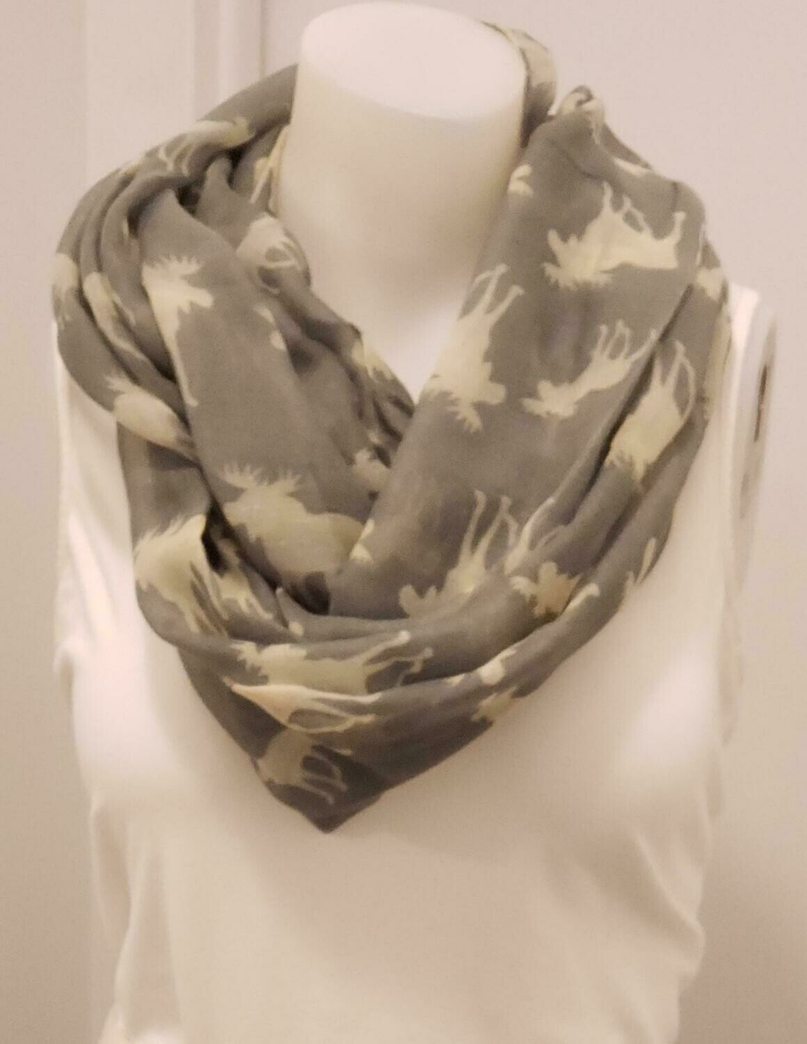 GRY Moose Scarf