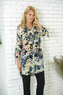 Tunic W/Tied Sleeve