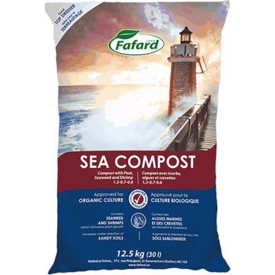 Organic Fafard Sea Compost w/Peat, Seaweed & Shrimp 30L
