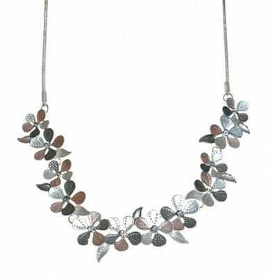Tri Colour Flower Necklace