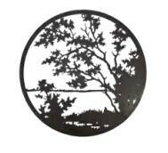 Decorative Circle Wall Art - Lake View