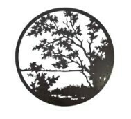 Decorative Circle Wall Art - Lake View