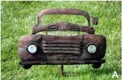 Vintage Cars Garden Stakes