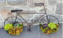 Vintage Bicycle Wall Planter