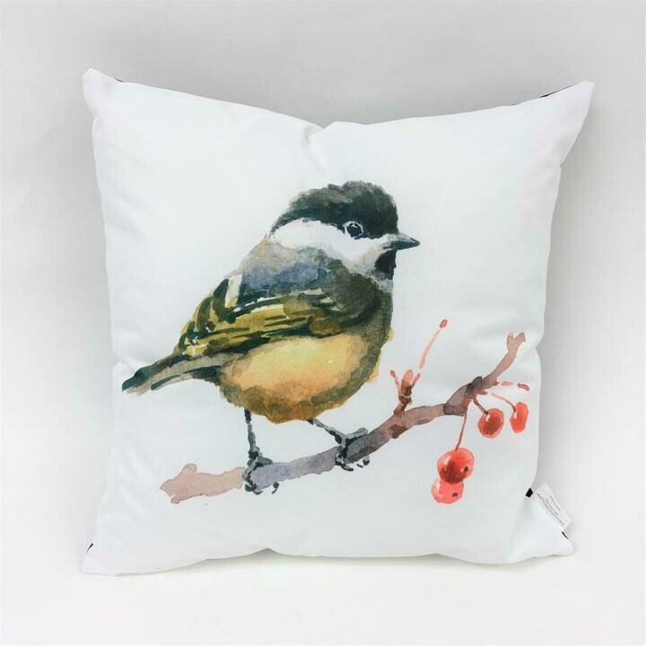 Yellow Belly Bird Pillow