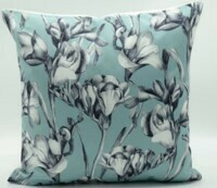 Flowering Blue Pillow