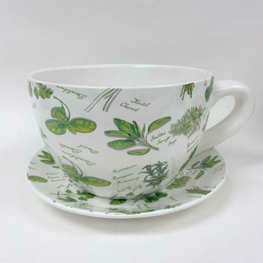 Tea Cup Pot Herbs Small