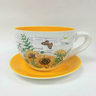 Tea Cup Pot Sunflowers (Various Sizes)