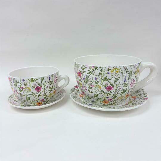 Tea Cup Pot Spring Flowers (Various Sizes)
