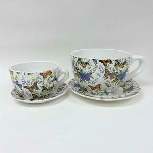 Tea Cup Pot Wildflowers & Butterflies (Various Sizes)
