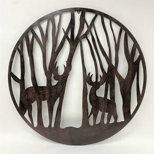Deer in Trees Metal Wall Decor 39x39
