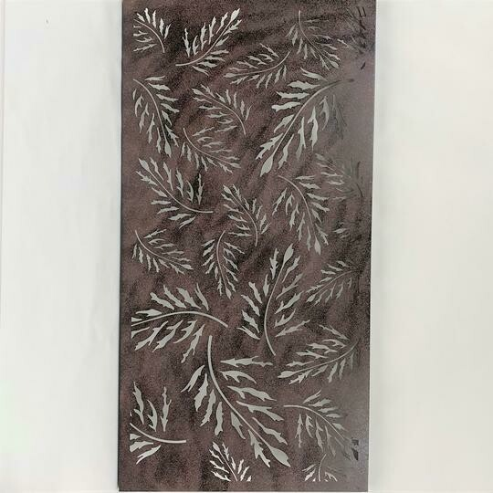 Wall Decor Metal Leaf 46.5x23.5""
