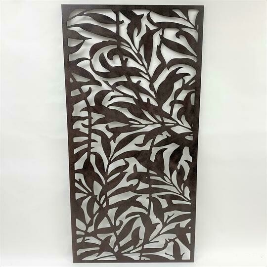 Wall Decor Metal Leaf Design