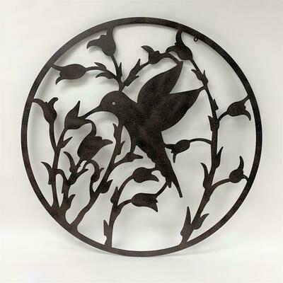 Hummingbird Wall Art - Metal