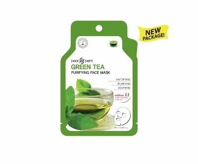 DEARDERM GREEN TEA AGE-ERASER FACE MASK