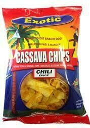 EXOTIC CASSAVA CHIPS CHILI 150G