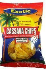 EXOTIC CASSAVA CHIPS LEMON CHILI 150G