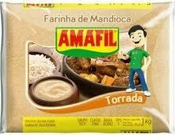 AMAFIL FARINHA MANDIOCA TORRADA 1KG