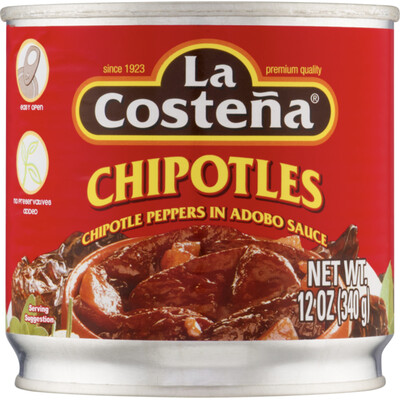 LA COSTENA CHIPOTLES EN ADOBO 12OZ