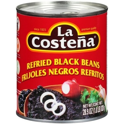 LA COSTEÑA REFRIED BLACK BEANS 820G