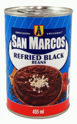 SAN MARCOS REFRIED BLACK BEANS 455ML