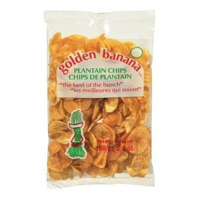 GOLDEN BANANA PLANTAIN CHIPS 150G